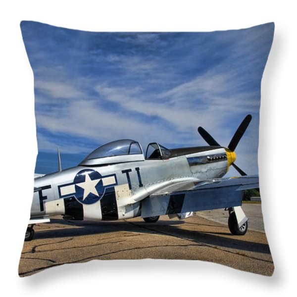 Angels Playmate  Throw Pillow by Steven Richardson