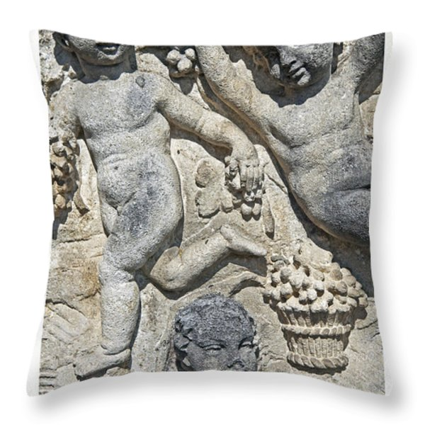 angels with grapes Throw Pillow by Joana Kruse