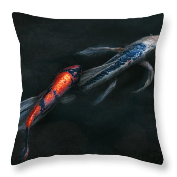 Animal - Fish - Beauty and Grace  Throw Pillow by Mike Savad