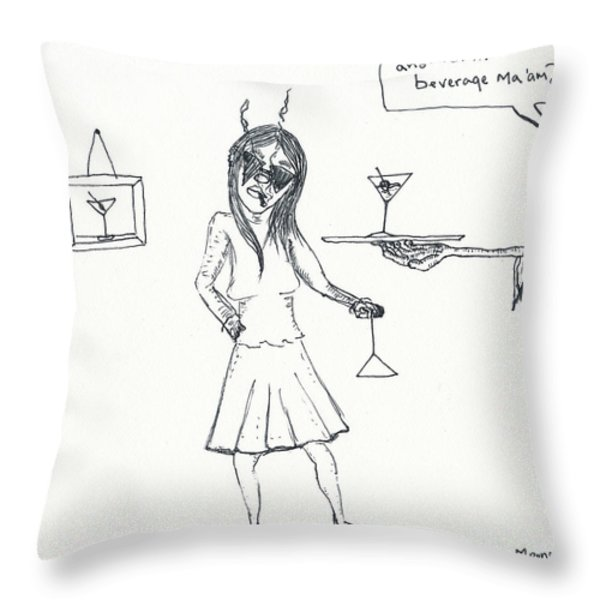 Another Beverage? Throw Pillow by Michael Mooney
