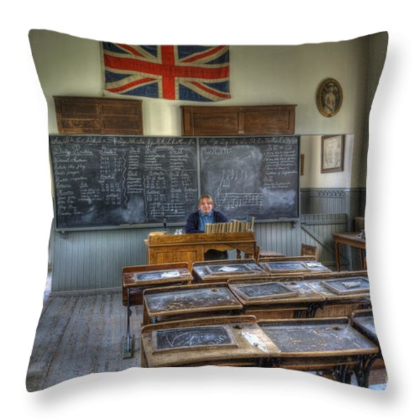 Another Brick In The Wall Throw Pillow by Bob Christopher