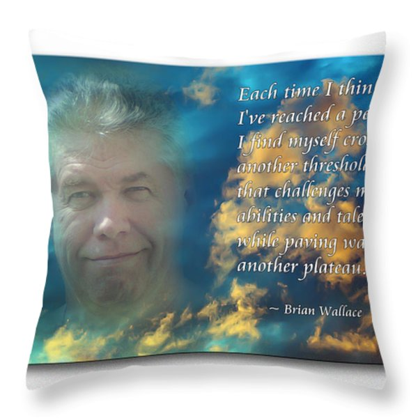 Another Plateau Throw Pillow by Brian Wallace