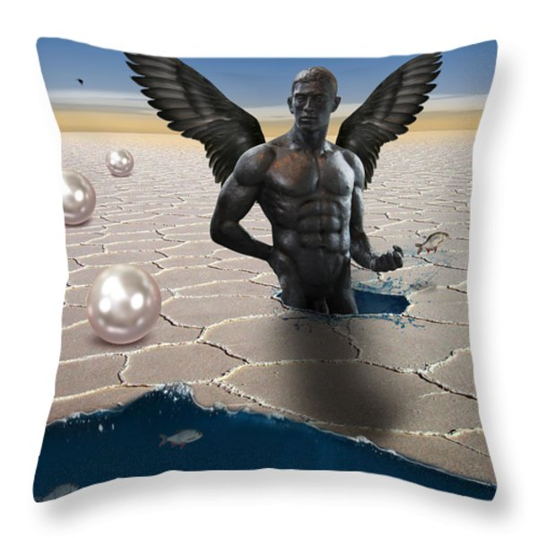 another side of dream Throw Pillow by Mark Ashkenazi