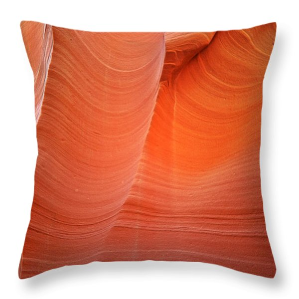 Antelope Canyon - A Dazzling Phenomenon Throw Pillow by Christine Till