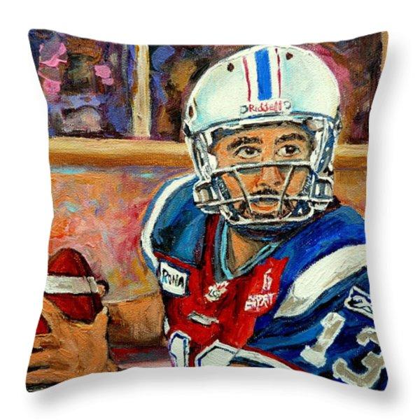 Anthony Calvillo Throw Pillow by Carole Spandau