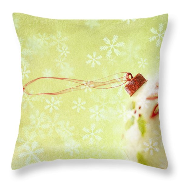 Anticipation Throw Pillow by Rebecca Cozart