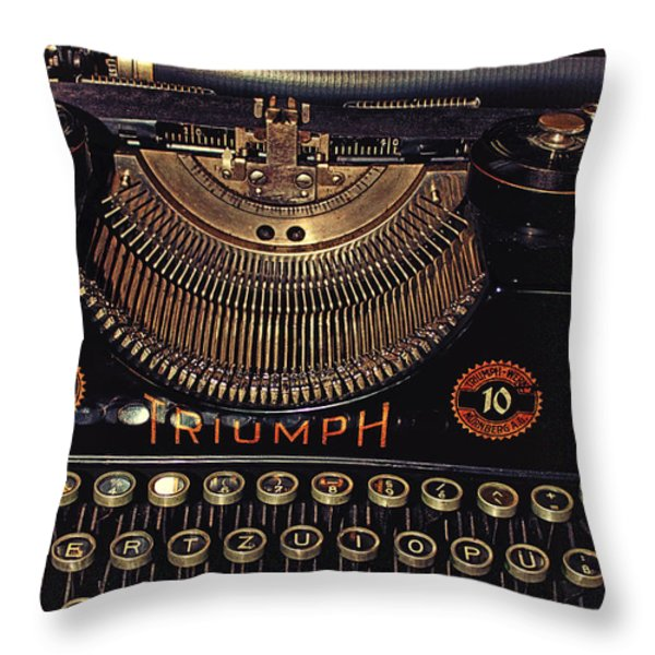 Antiquated Typewriter Throw Pillow by Jutta Maria Pusl