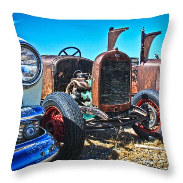Antique Auto Sales Throw Pillow by Steve McKinzie