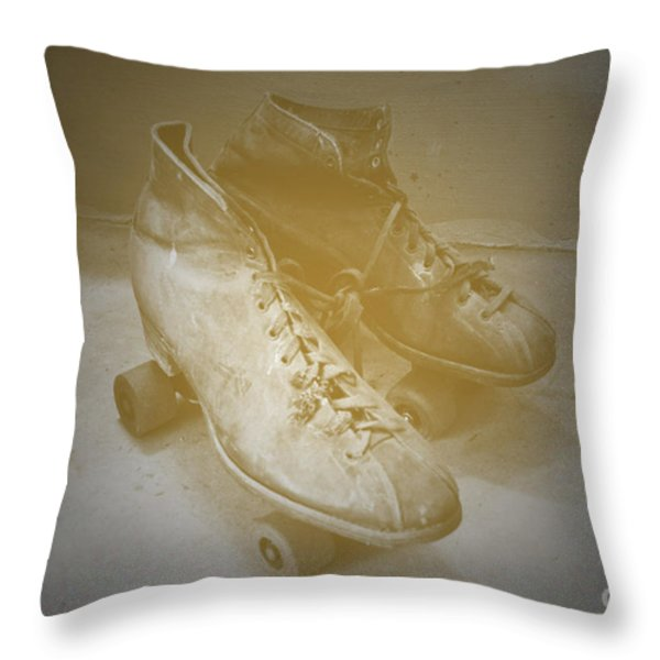 Antique Roller Skates Throw Pillow by Jost Houk