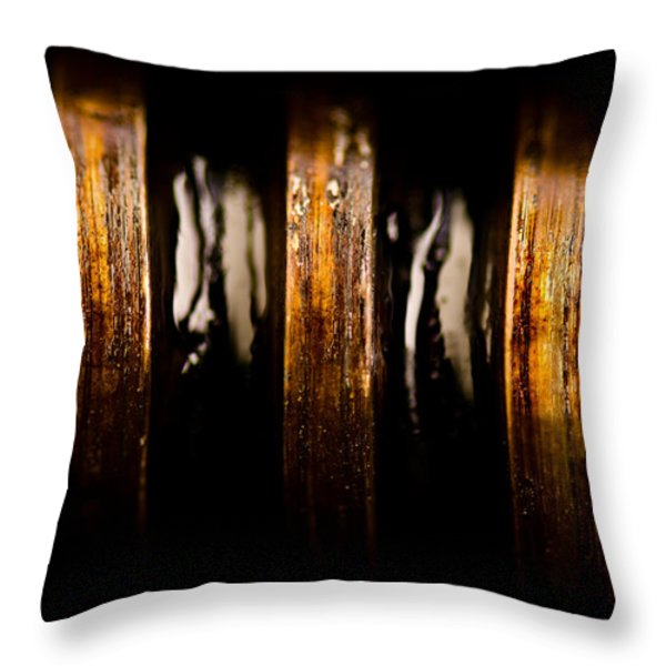 Antique Vise Worm Gear Throw Pillow by  onyonet  photo studios