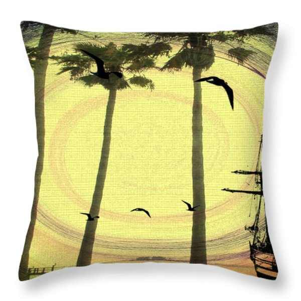 Any Port In A Storm Throw Pillow by Bill Cannon