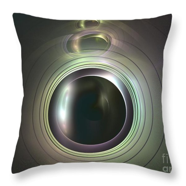 Aperture Throw Pillow by Kim Sy Ok