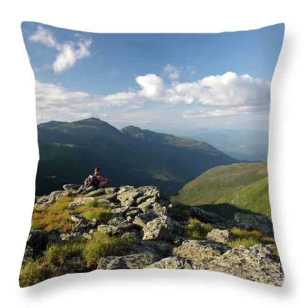 Appalachian Trail  - White Mountains New Hampshire Throw Pillow by Erin Paul Donovan