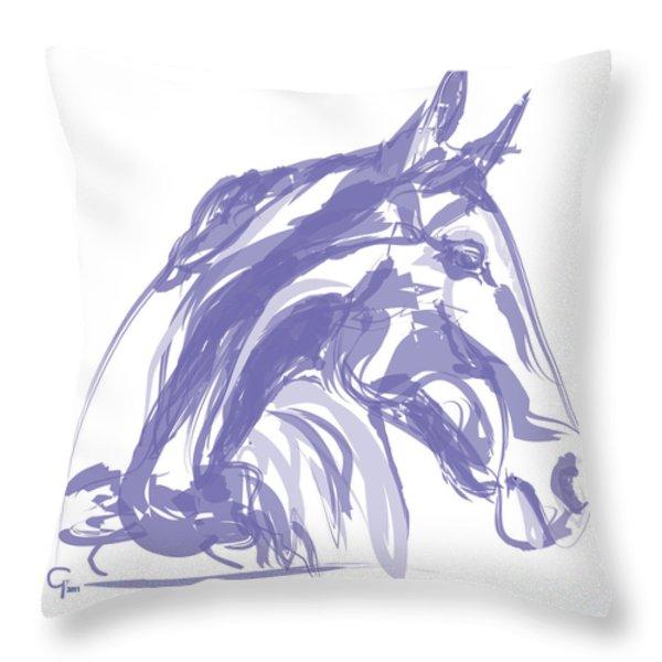 Apple soft  Throw Pillow by Go Van Kampen