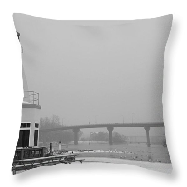 Appleton Yacht Club Throw Pillow by Joel Witmeyer