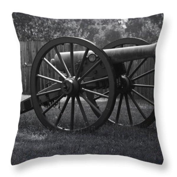 Appomattox Cannon Throw Pillow by Teresa Mucha