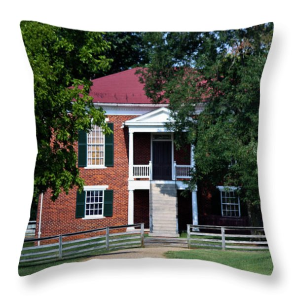 Appomattox County Court House 1 Throw Pillow by Teresa Mucha