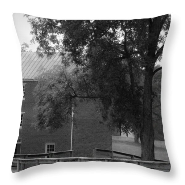 Appomatttox County Jail Virginia Throw Pillow by Teresa Mucha