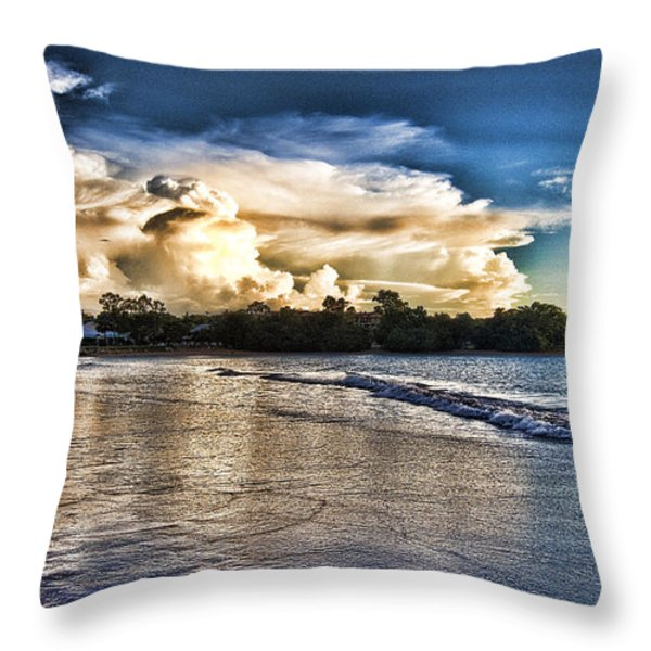 Approaching Storm Clouds Throw Pillow by Douglas Barnard