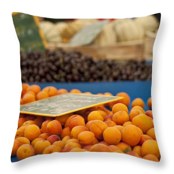 Apricot Season Throw Pillow by Nomad Art And  Design