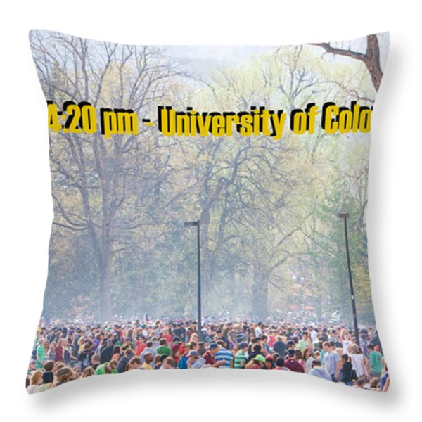 April 20th - University of Colorado Boulder Throw Pillow by James BO  Insogna