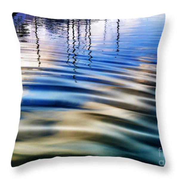 Aquatic Reflections Throw Pillow by Mariola Bitner