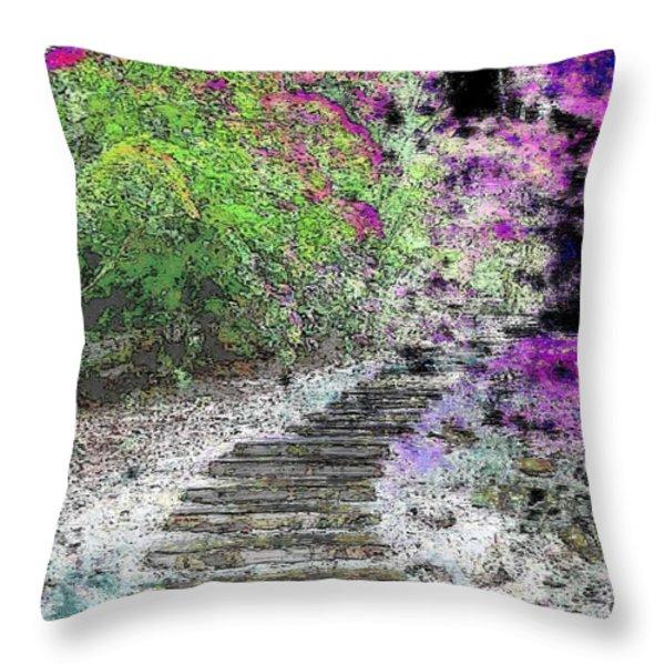 Arbor Pathway Throw Pillow by Tim Allen