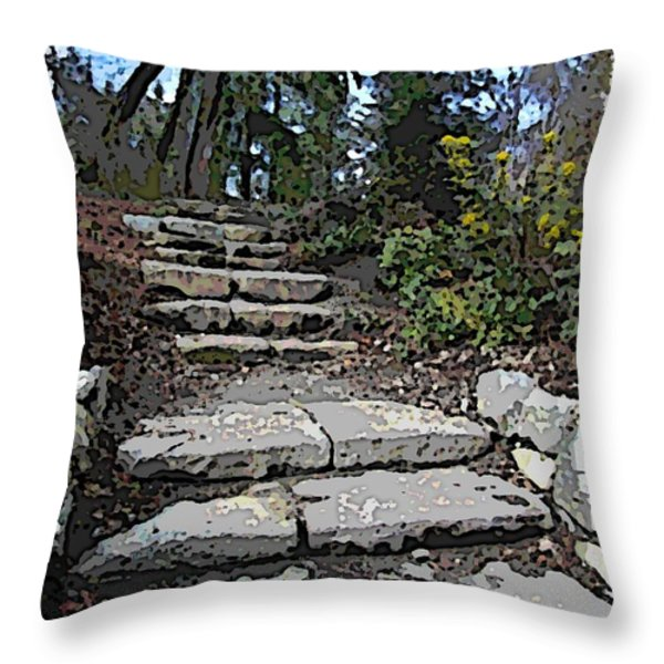 Arboretum Stairway Throw Pillow by Tim Allen