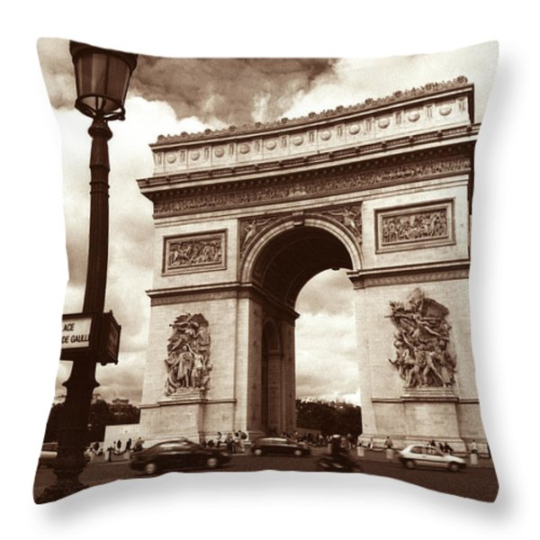 Arc de Triomphe Throw Pillow by Kathy Yates