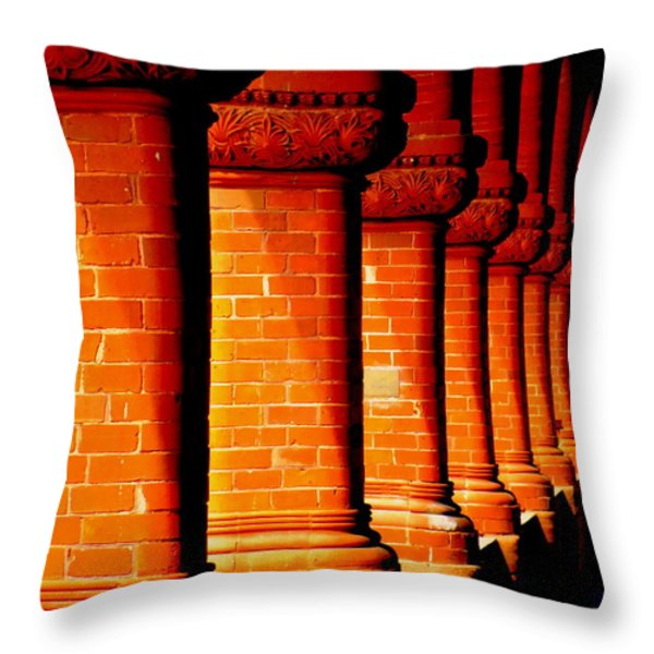 Archaic Columns Throw Pillow by KAREN WILES