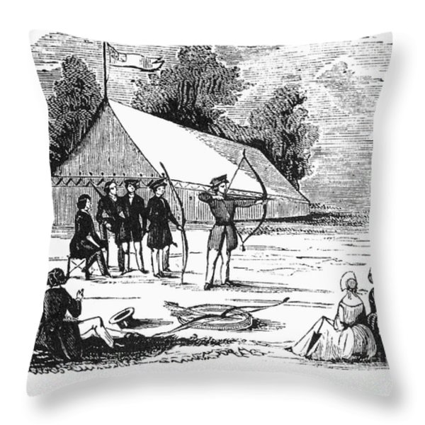 Archery, C1830 Throw Pillow by Granger