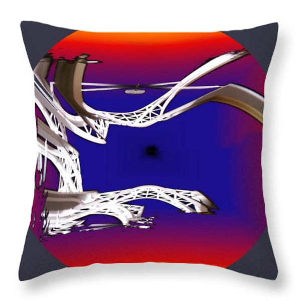 Arches 2 Throw Pillow by Tim Allen