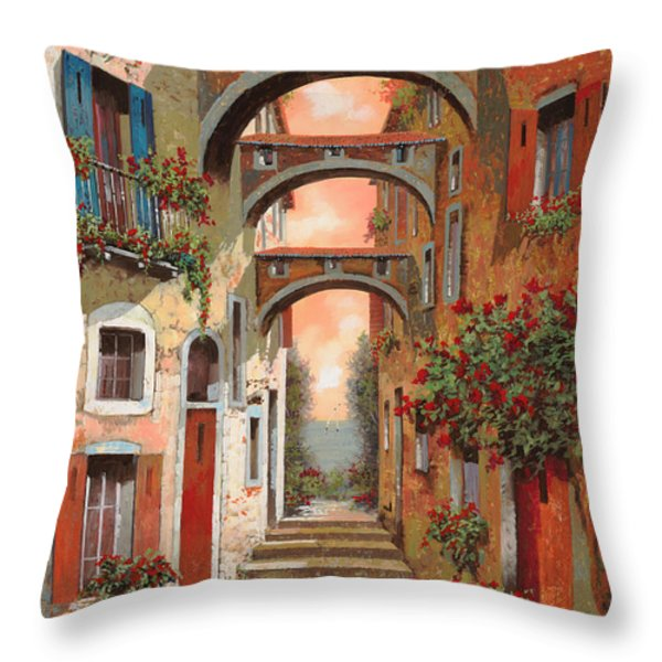 Archetti In Rosso Throw Pillow by Guido Borelli
