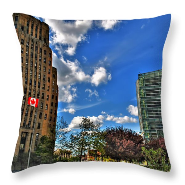 Architectural Dynamics  Throw Pillow by Michael Frank Jr