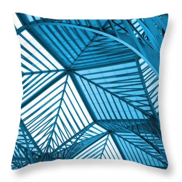 Architecture Design Throw Pillow by Carlos Caetano