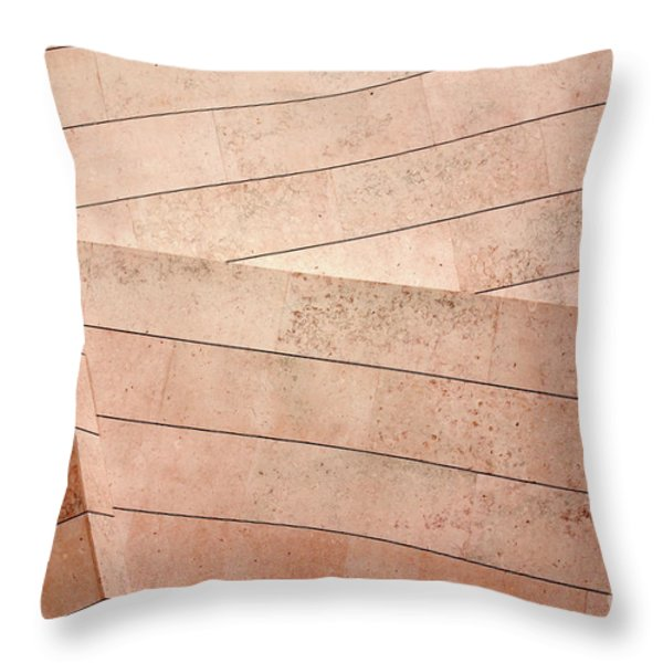 Architecture Lines Throw Pillow by Carlos Caetano