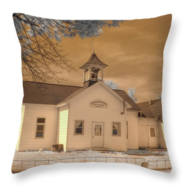 Arcola Illinois School Throw Pillow by Jane Linders
