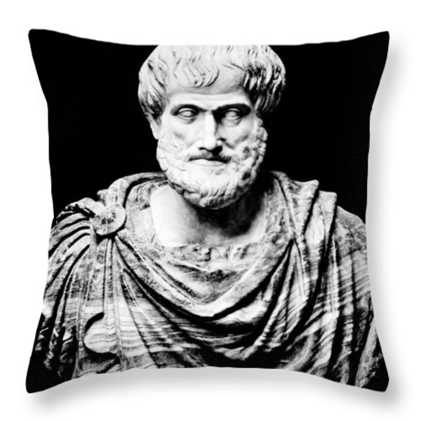 Aristotle, Ancient Greek Philosopher Throw Pillow by Omikron