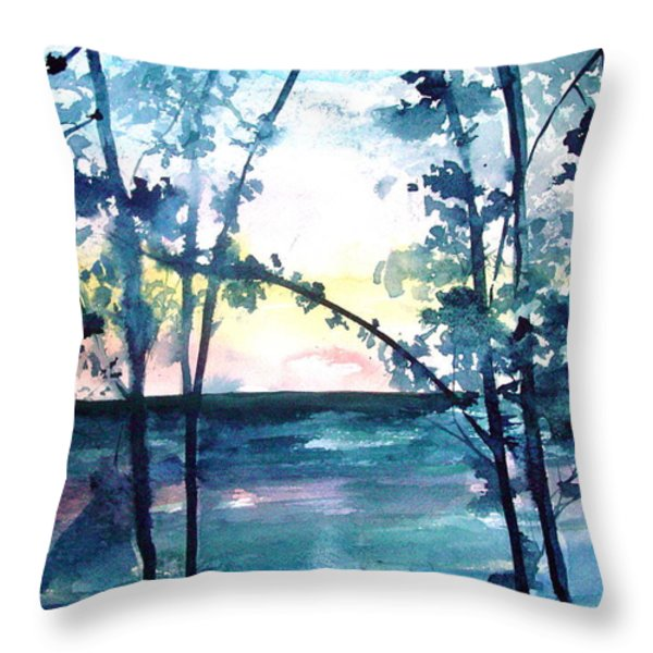 Arkansas Sunset Throw Pillow by Robin Miller-Bookhout