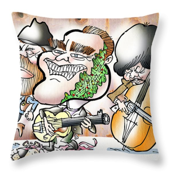 Arnold And The Terminators Throw Pillow by Mark Armstrong