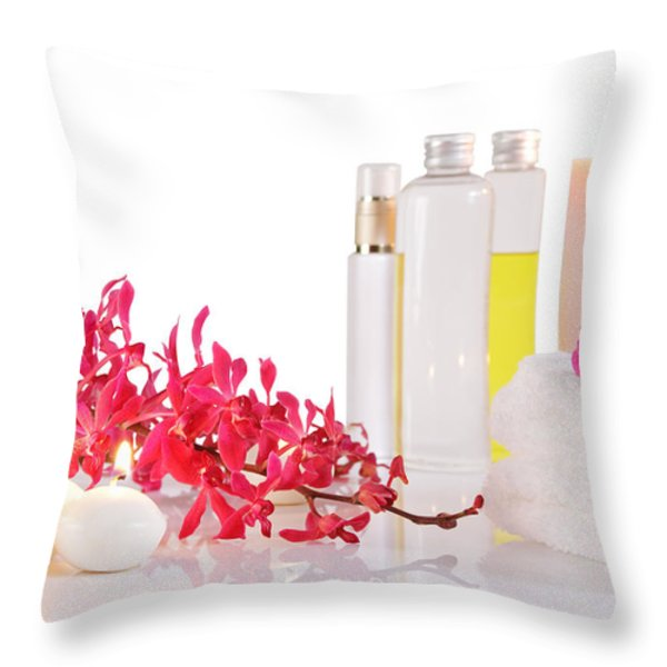 aromatherapy Throw Pillow by ATIKETTA SANGASAENG
