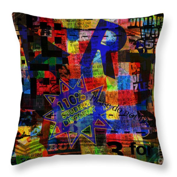Art 5 Throw Pillow by Andy  Mercer