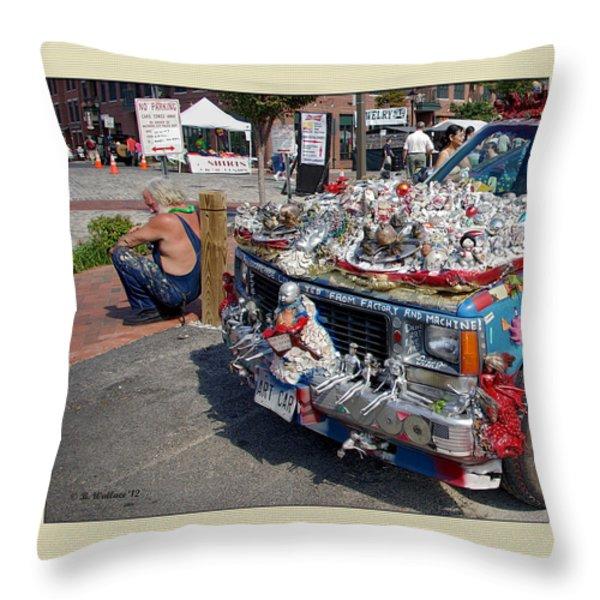Art Car Throw Pillow by Brian Wallace
