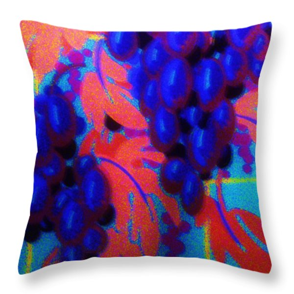ART DECO   GRAPES     3 Throw Pillow by Gunter  Hortz