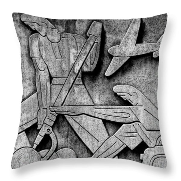 Art Deco 7 Throw Pillow by Andrew Fare