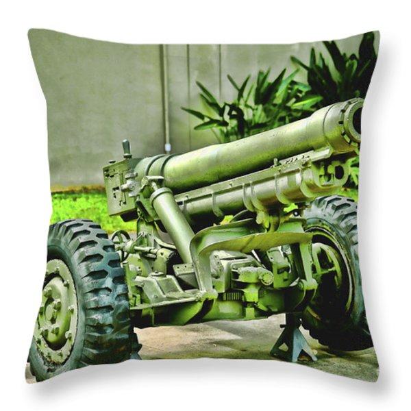 Artillery Throw Pillow by Cheryl Young