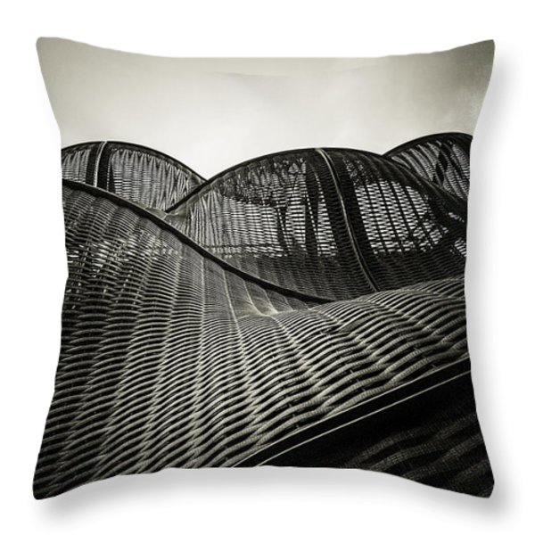 Artistic Curves Throw Pillow by Lenny Carter