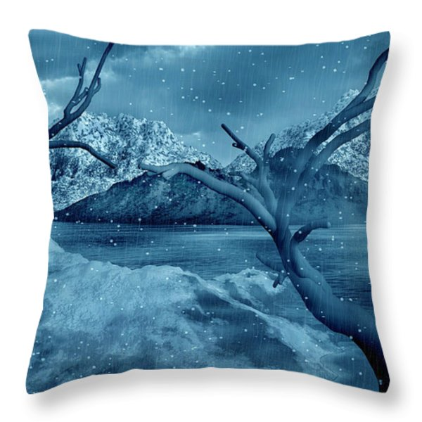 Artists Concept Of A Dangerous Snow Throw Pillow by Mark Stevenson