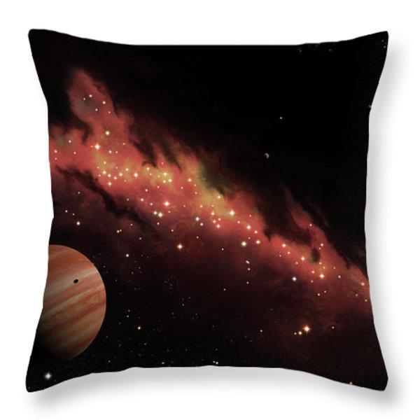 Artists Concept Of An H Ii Region Throw Pillow by Brian Christensen