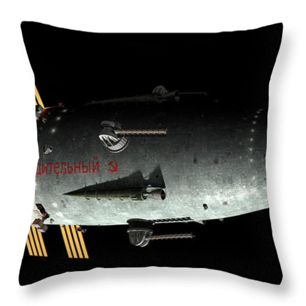 Artists Concept Of An Orion-drive Throw Pillow by Rhys Taylor